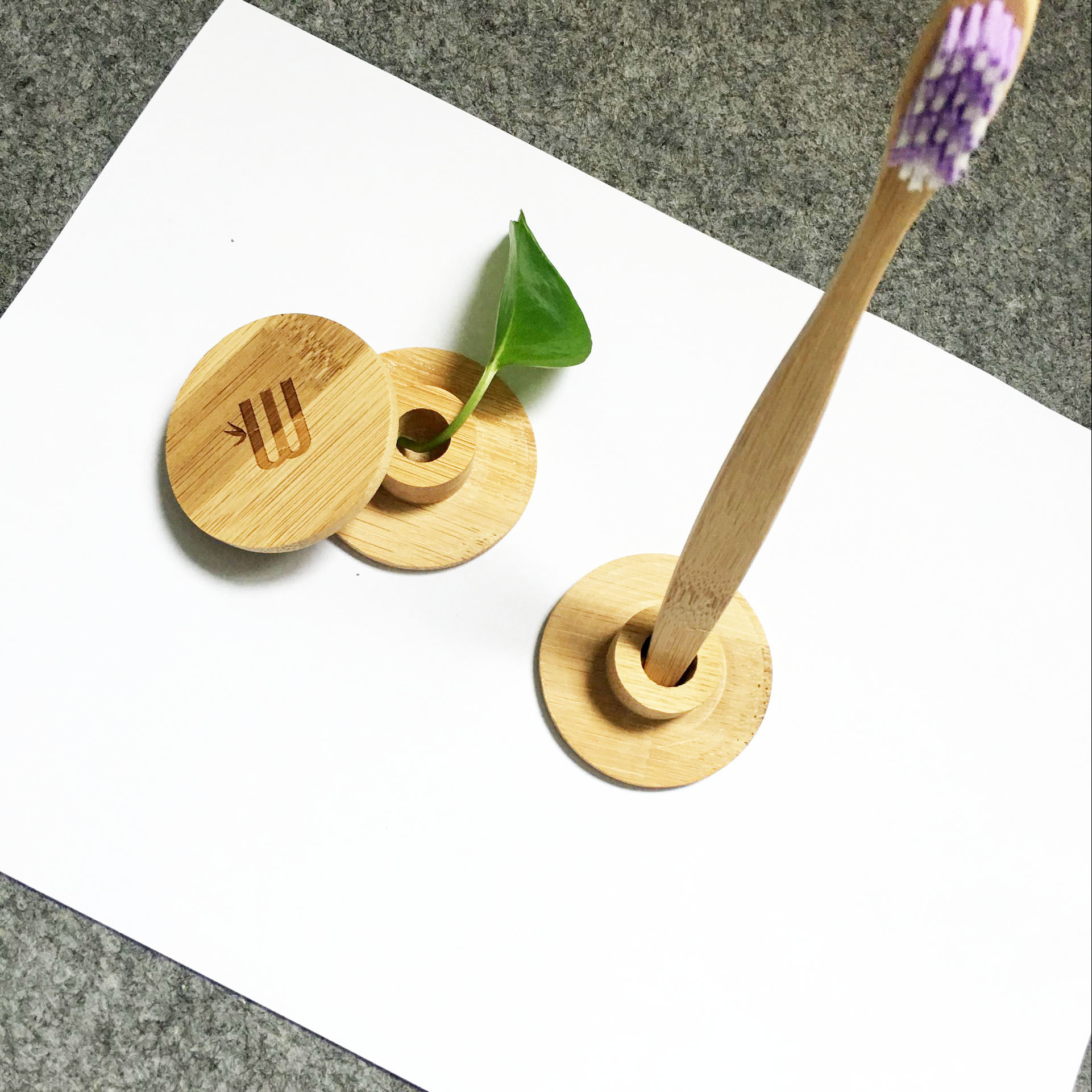 China Hotel Simple Design Toothbrush Bamboo Holder China
