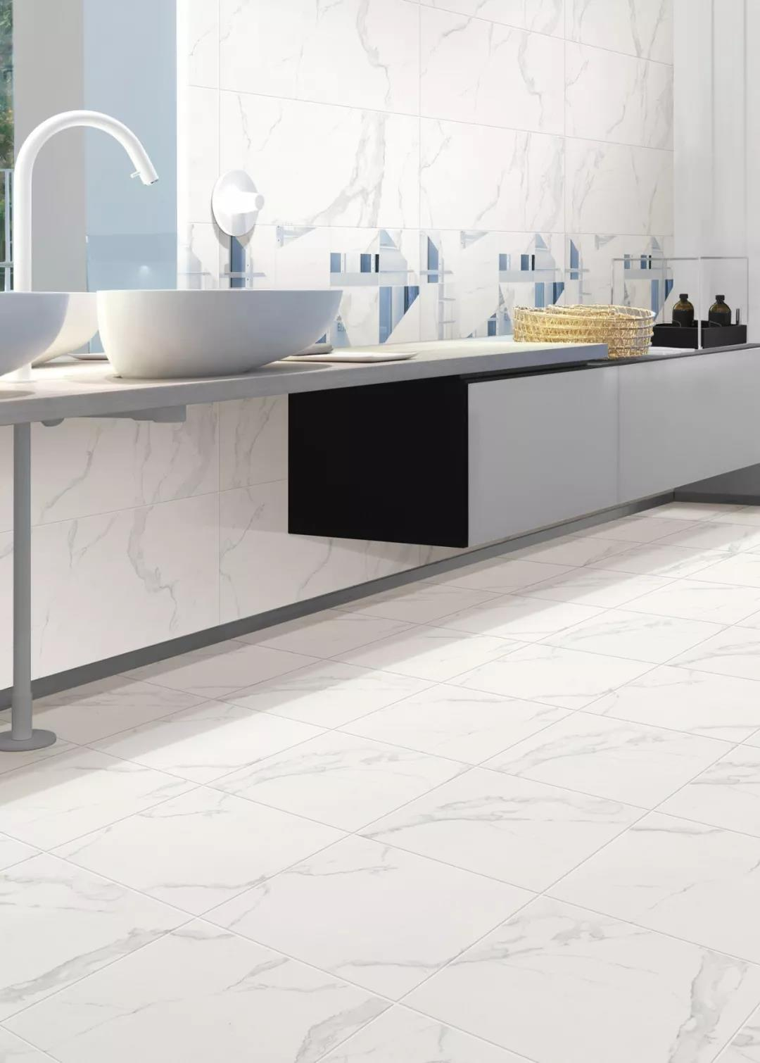 China White Marble Look Polished Floor Porcelain Ceramic Tile For Bathroom China Vitrified Tile Building Material