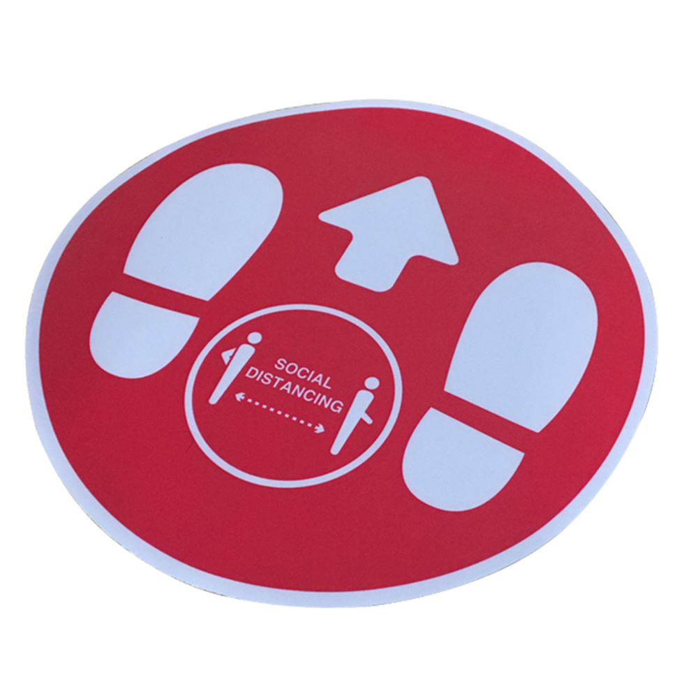 FLOOR STICKER SOCIAL DISTANCING KEEP YOUR DISTANCE STAND HERE DECALS SIGN SAFETY