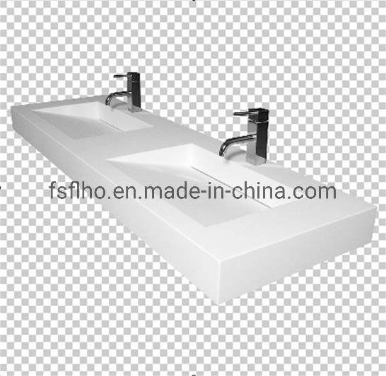Double Sink Stone Solid Surface