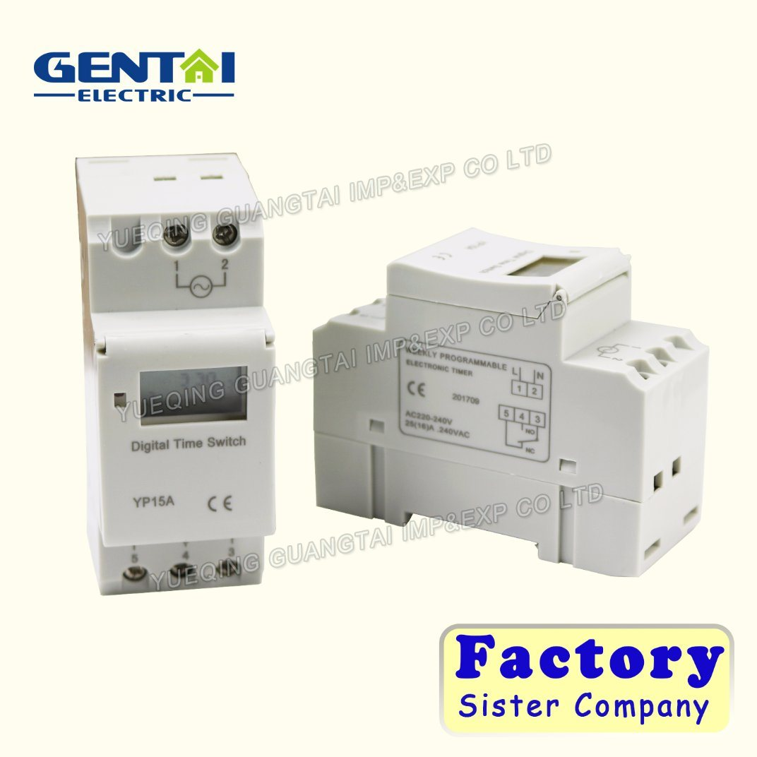 China Din Rail Time Relay Switch Digital Lcd Power Programmable 12 Volt Timer Dc