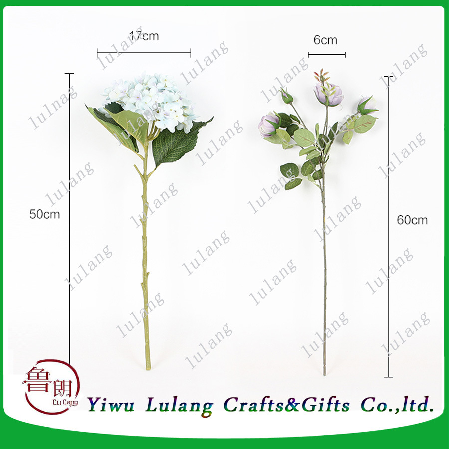 China Wholesale Hottest Decorative 50cm Artificial Cheap Hydrangea