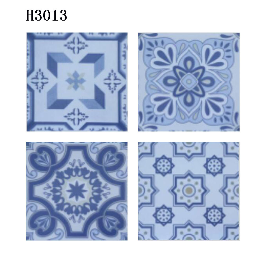 China 300X300mm Blue Color Flower Type Bathroom Ceramic Floor Tiles ...