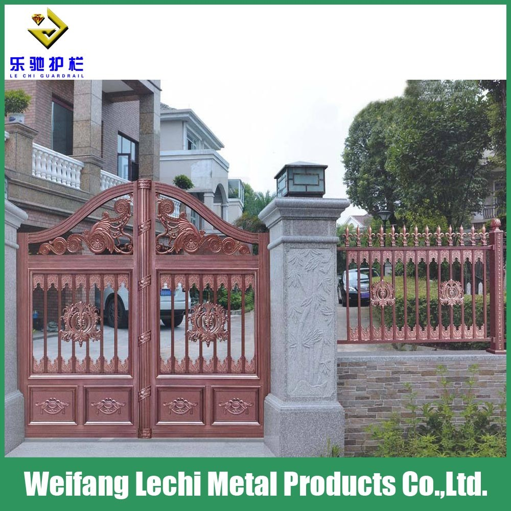 Hot item modern ornamental aluminum new design gates and house fence