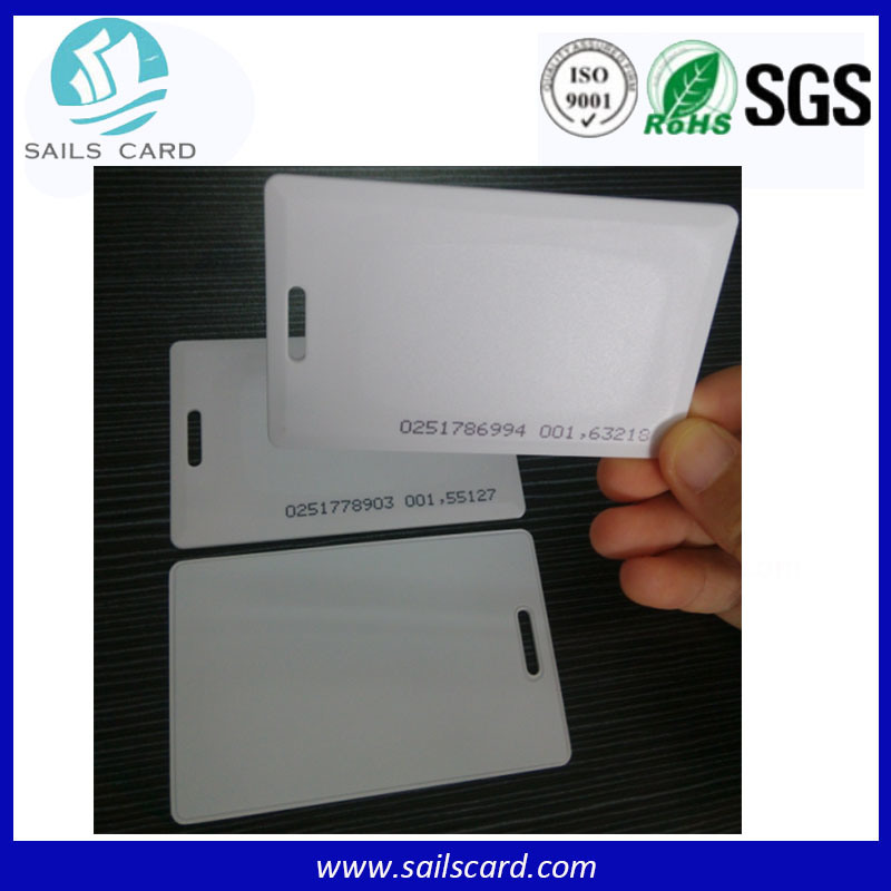 1.8mm in Thickness Tk4100 RFID Clamshell Staff Employee ID Card pictures & photos