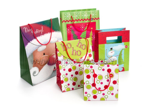 Christmas Season Decoration Wine Candy Packing Paper Gift Bag pictures & photos