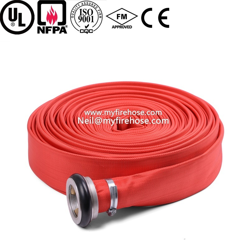 8 Inch Canvas Fire Hydrant Hose Material Is PVC pictures & photos