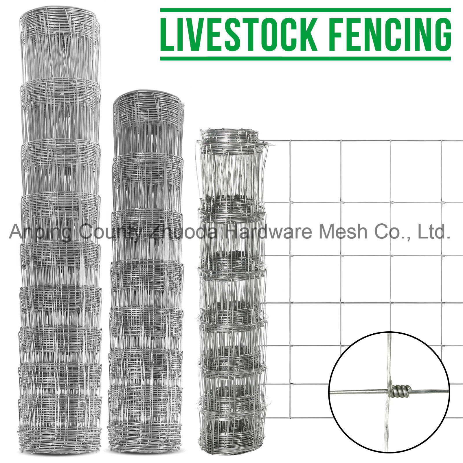China 25m 50m Stock Fencing Sheep Pig Cattle Livestock Fence ...