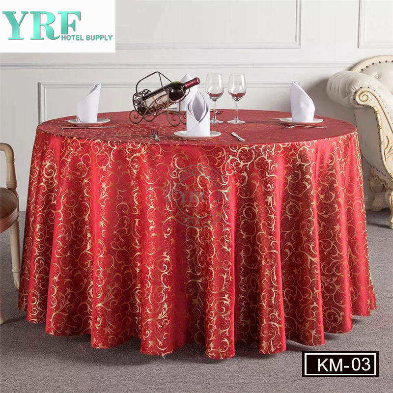 China Round Wedding Banquet Inexpensive Fall Table Cloths