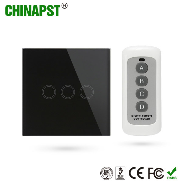 Smart 3CH Wireless Touch Switch for Home Lamps (PST-G90-TSE3) pictures & photos