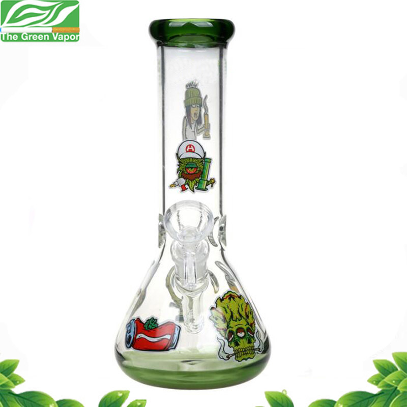 2018 New 12inch Height 7mm Thickness Glass Beaker Smoking Water Pipe pictures & photos