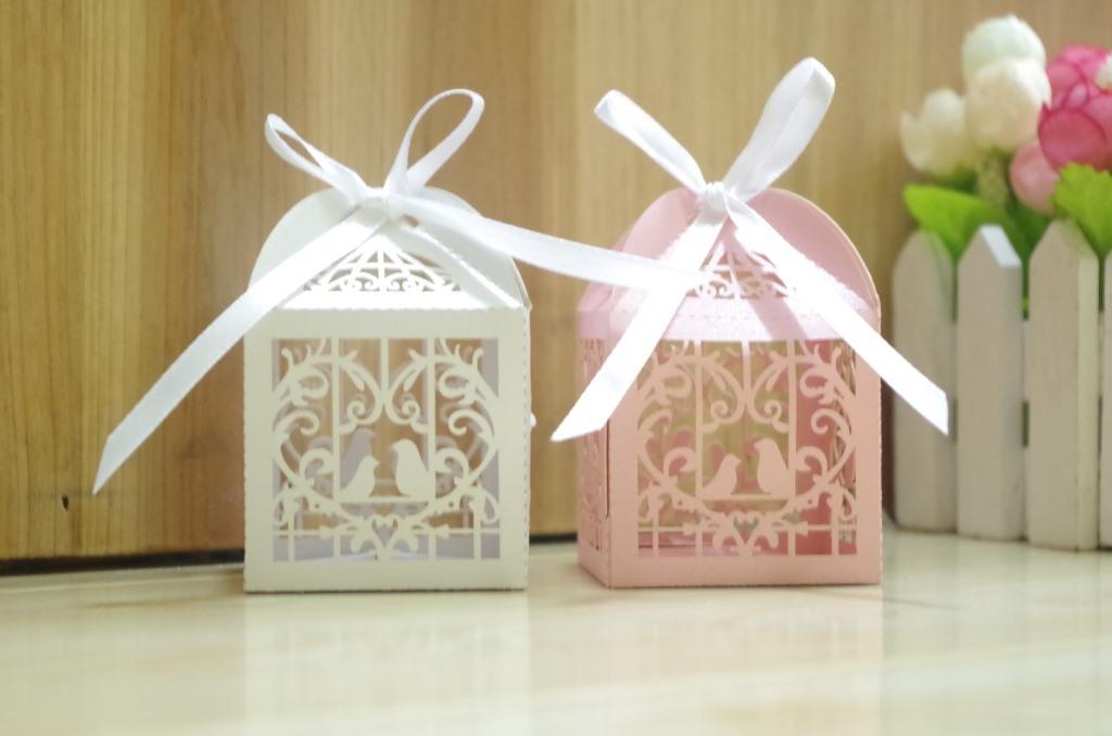 China Laser Cut Bird Wedding Favor Gift Boxes China Favor Gift