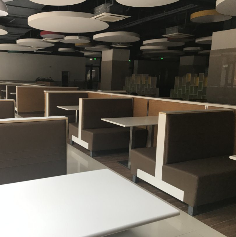 China 2018 New Fast Food Restaurant Furniture Booth Sofa Seating