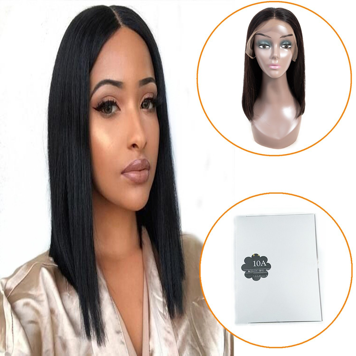 China Remy Brazilian Human Hair Bob Wig 14inch 10a Grade Lace Frontal Bob Wig For Black Women China Remy Hair And Brazilian Hair Price