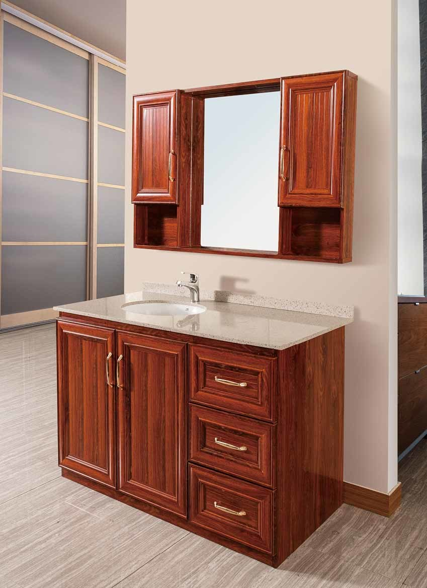 China Waterproof Bathroom Cabinets In Solid Wood Color Br Alv001 All Aluminum Cabinet