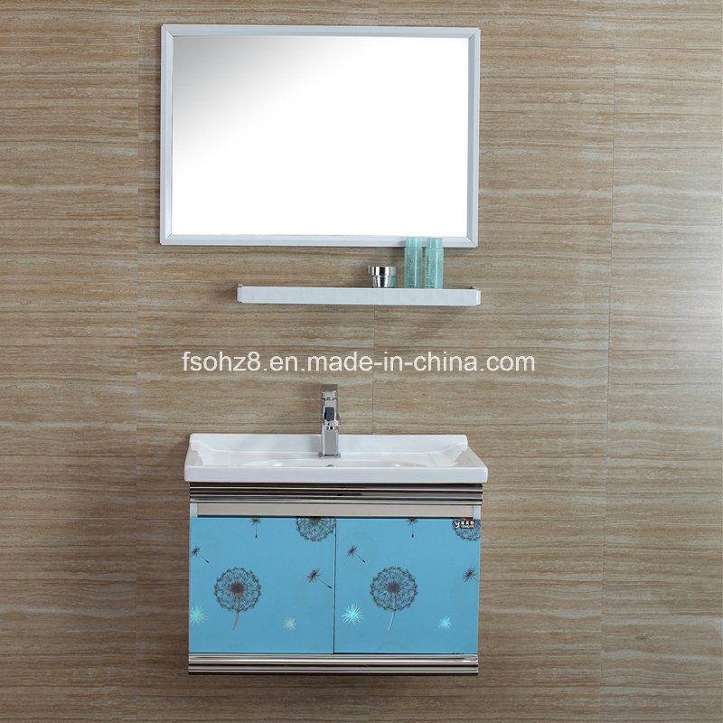 Unique Hot Sales Stainless Steel furniture Bathroom Vanity Cabinet (T-085)
