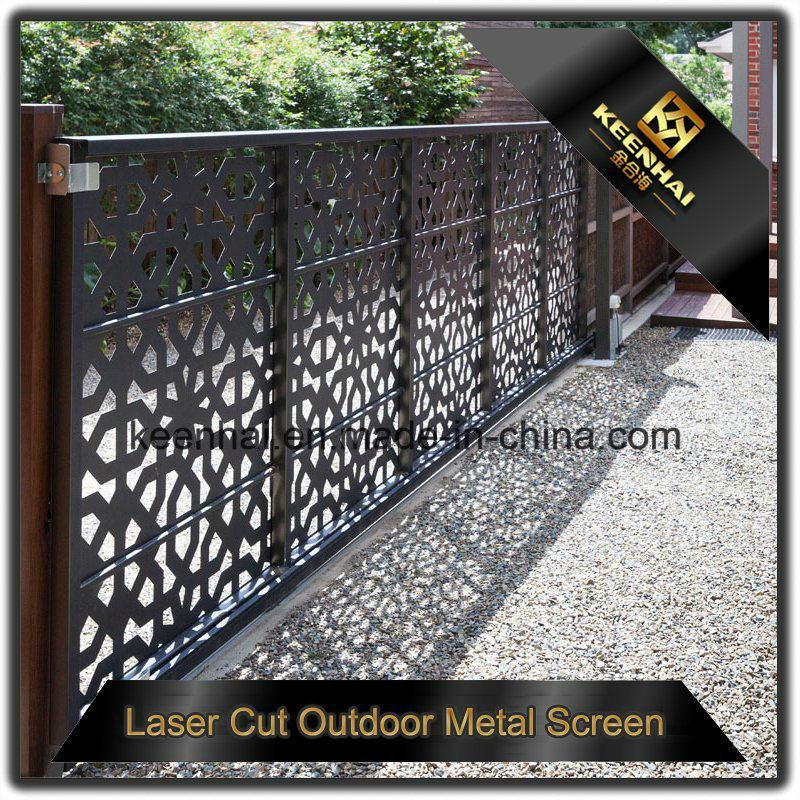 Exterior Decorative Laser Cut Aluminum Garden Fence Panel With Factory Price