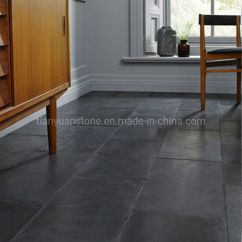 Chinese Black Slate Flooring Tile