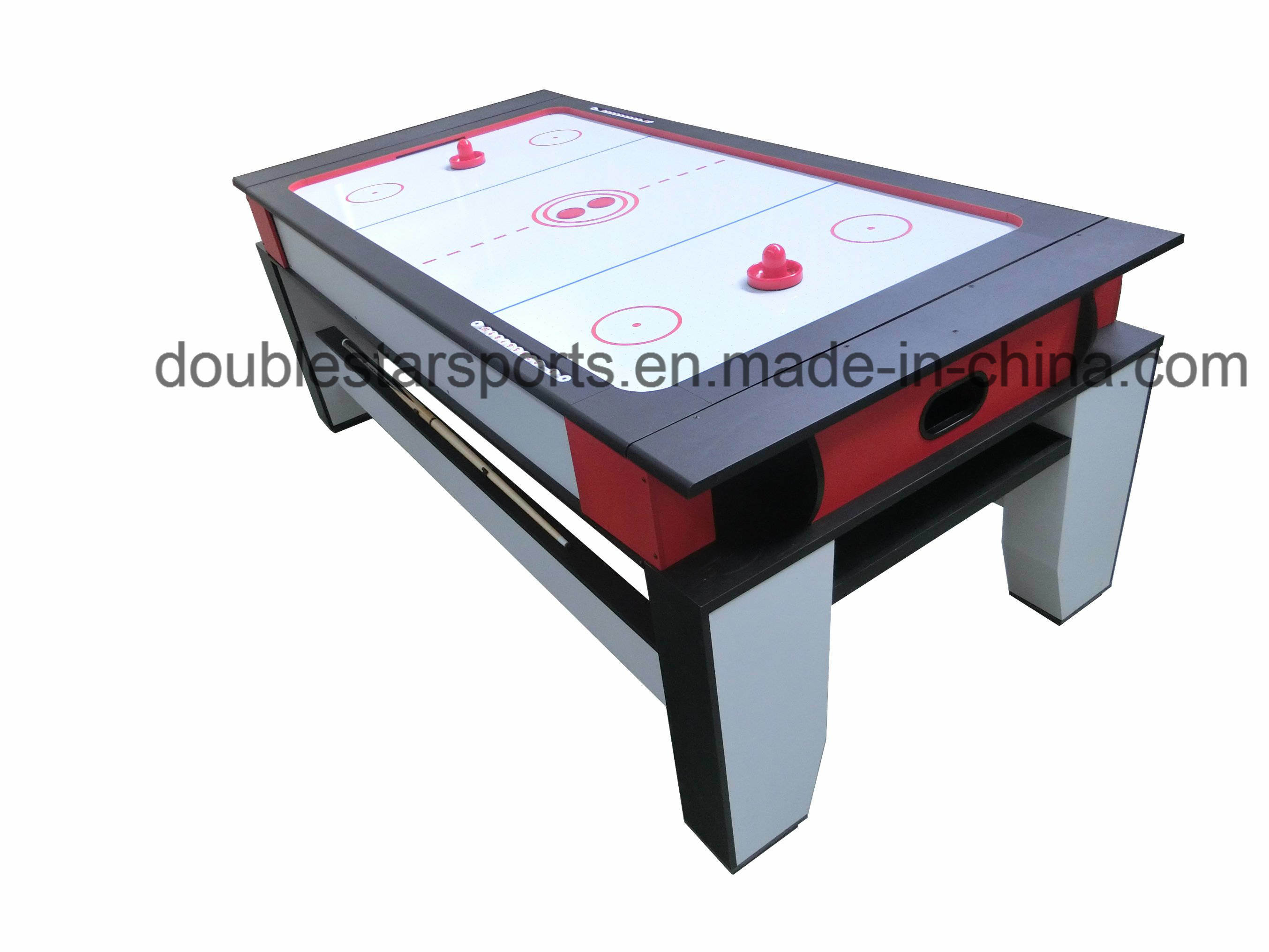 2 in One Pool Table Air Hockey Table Combo with Auto Ball Return System