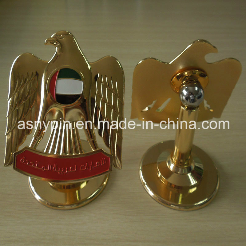 [Hot Item] UAE 2016 Gold Metal Stand 3D Falcon Design Trophy for National  Day Decoration