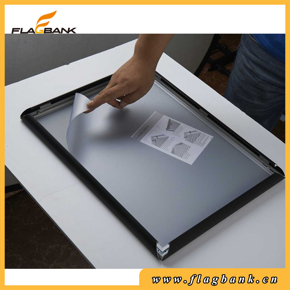 China Aluminum Black Snap in Frames Free Standing Poster Display ...
