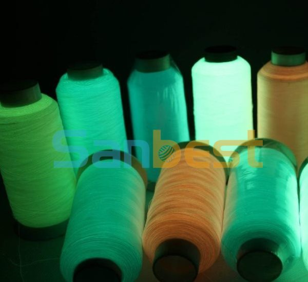 China 100 Colorful Nylon Glow In The Dark Embroidery Thread 120d2