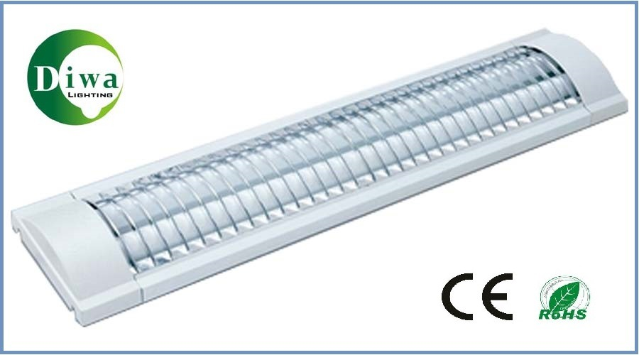 T8 Fluorescent Lighting Fitting for Tube Light with Grille, Grid & CE. RoHS, IEC, SABS Approved (DW-T8CG)