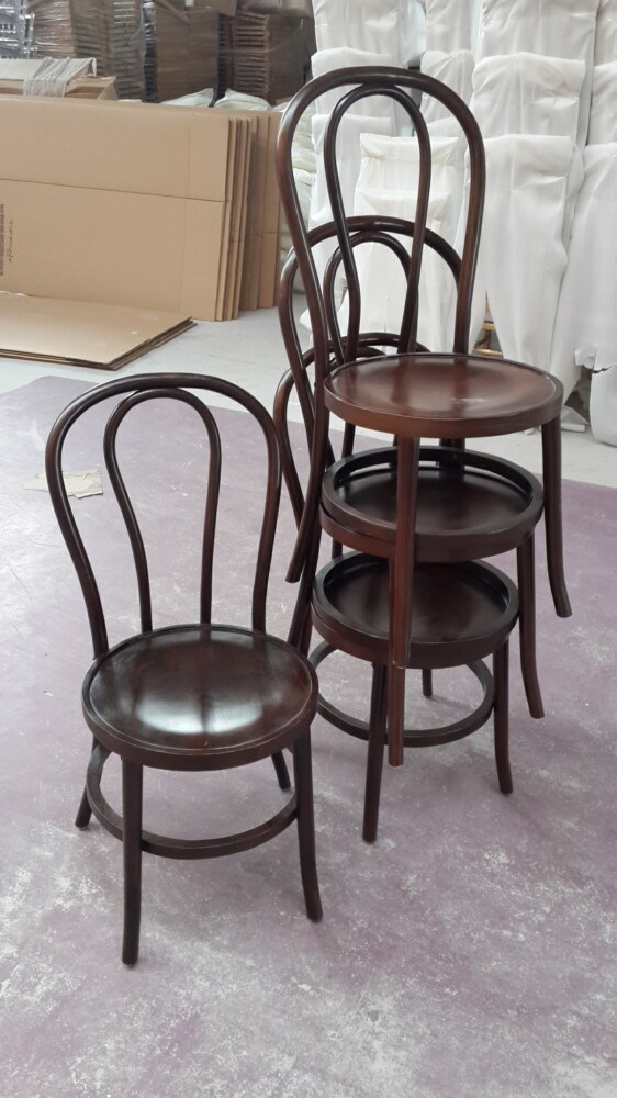 China Low Wood Thonet Chair Stackable Bentwood