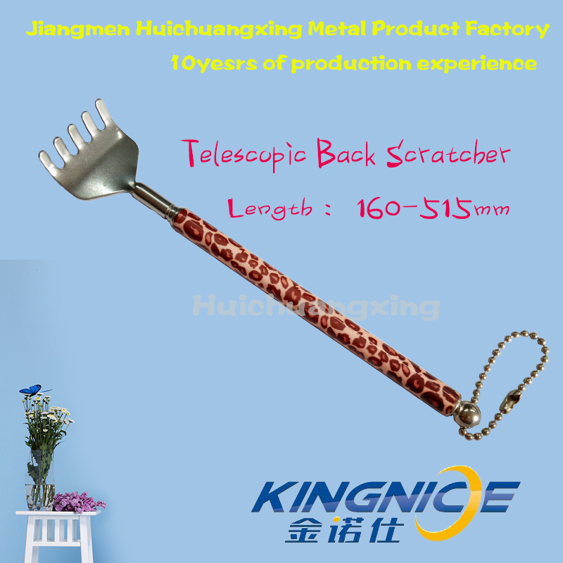 Retractable Back Scratcher Handle Coloured Eopard Print Customize