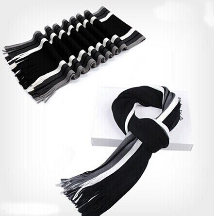 Men Winter Classical Striped Men′s Wool Scarf (82020) pictures & photos