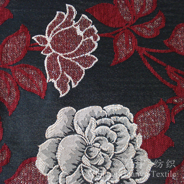 Polyester and Acrylic Yarn Dyed Jacquard Chenille Fabric
