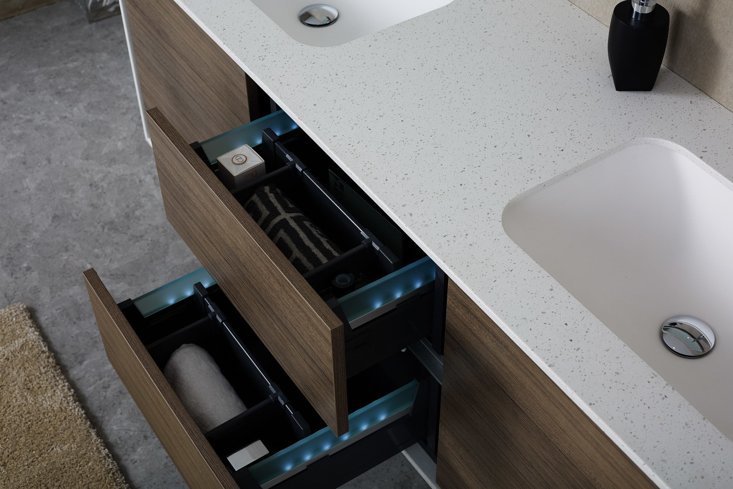 500 450mm Counter Top Solid Surface