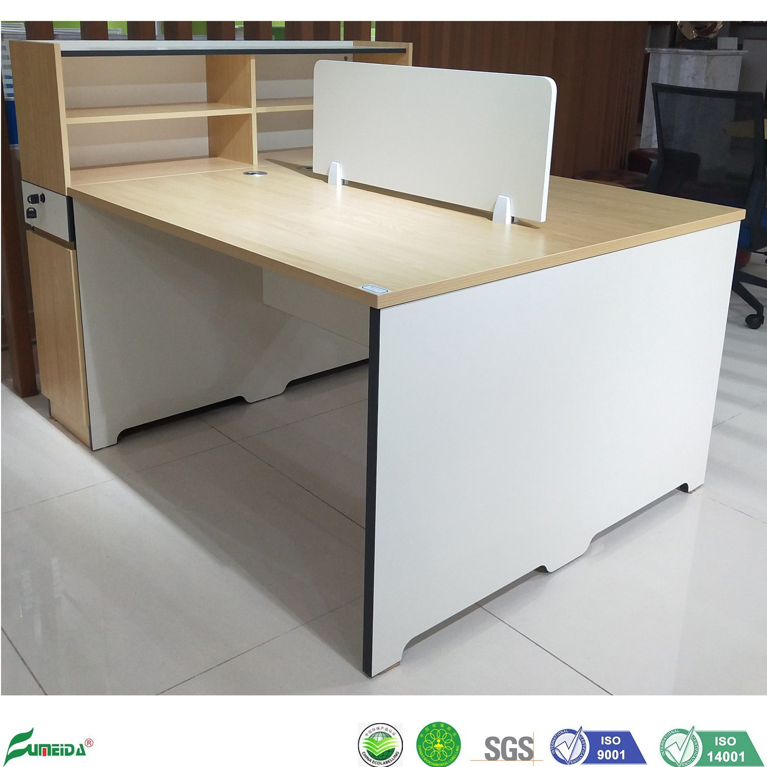 - China Small Workstation Computer Desk Office 2 Person Workstation