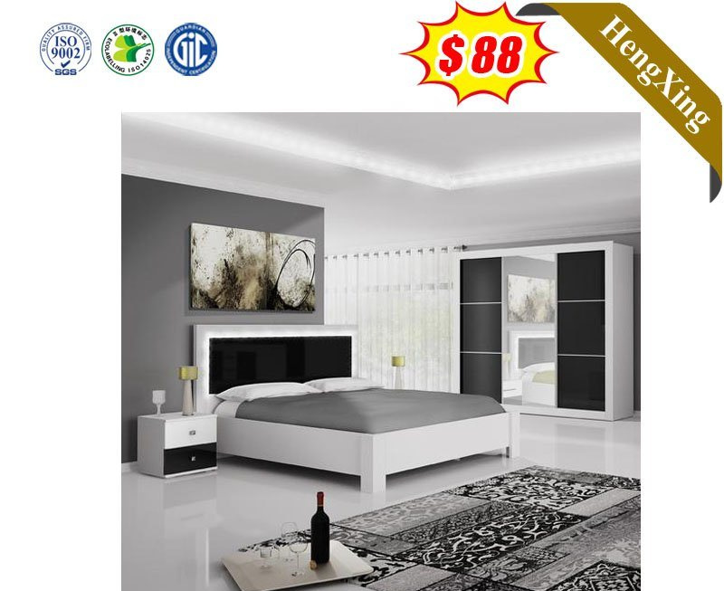 China Simple Modern Bedroom Furniture Design Black And White Wooden Bedroom Set Chinese Furniture Wooden Furniture