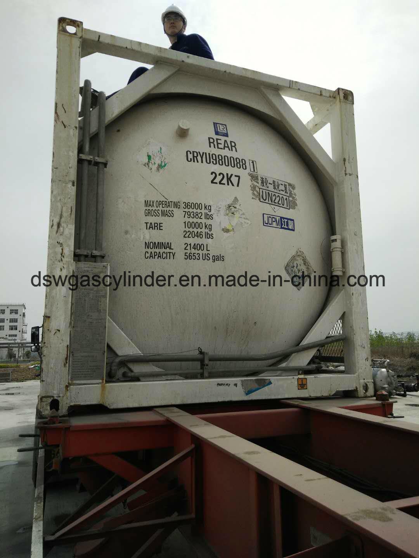China Asme Certified 50ton Nitrous Oxide Iso Tank China 20ton N2o