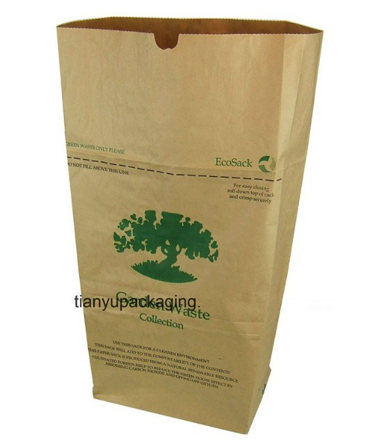 5e1dbb3f496 Leaf Trash Outdoor Kraft Paper Bag Leaf and Lawn Refuse Trash Paper Bags