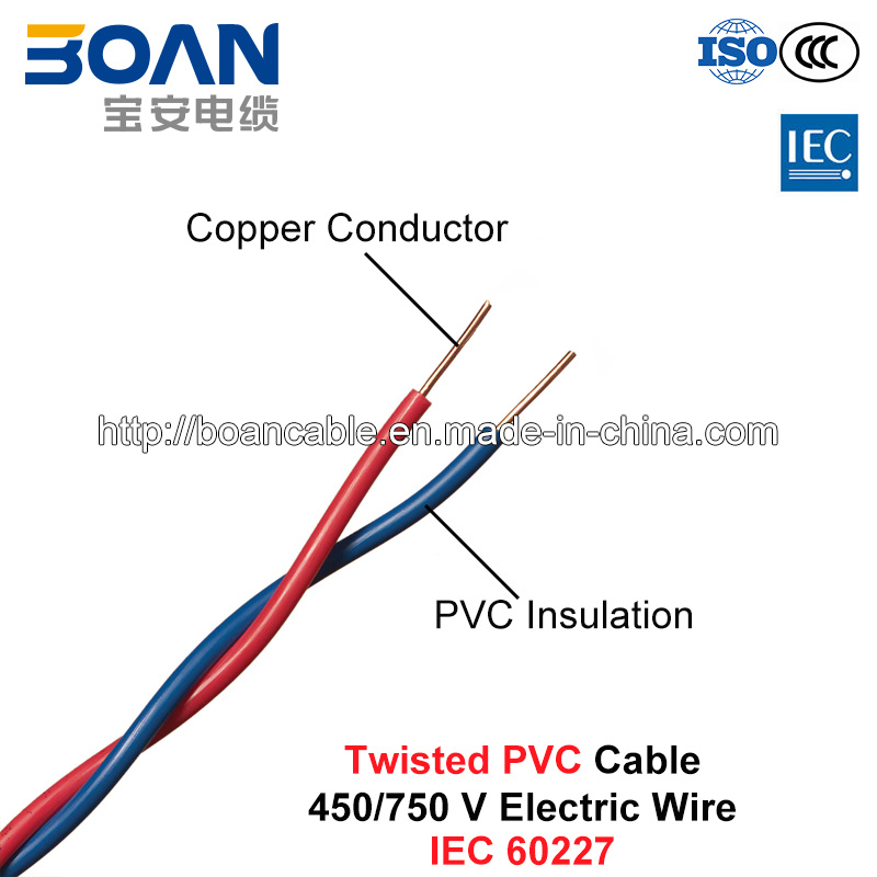 China Twisted PVC Cable, Electric Wire, 450/750 V, Twisted Cu/PVC ...