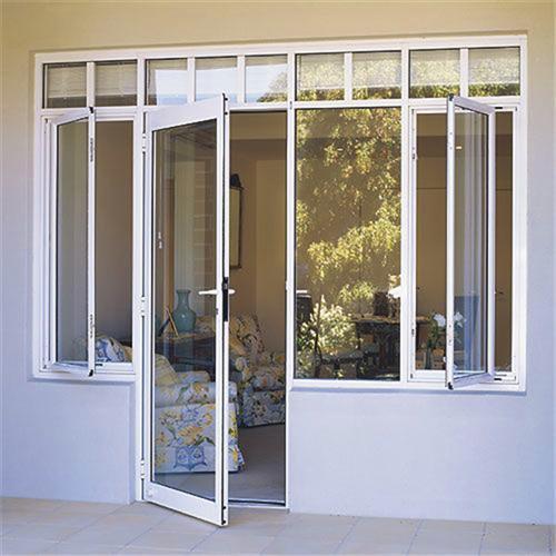 China White Frame Upvc Glass Door With Double Glazed Glass China
