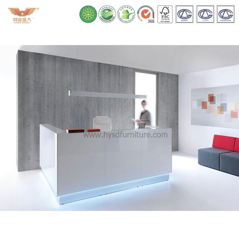 Hot L Shaped Standing Beauty Nail Salon Metal Reception Desk