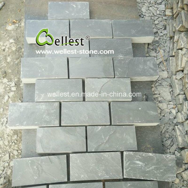 Riven Black Slate Driveway Paving Stone Patio Cobble
