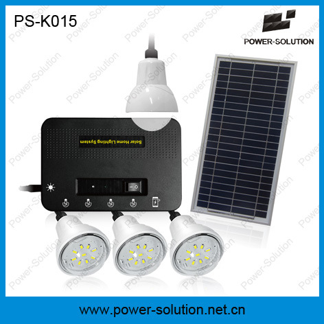 Solar Power System with 4 LED Bulbs