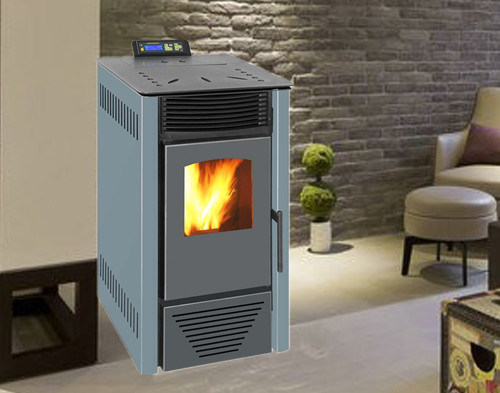 8kw, Auto Feeding, Auto Ignite, Indoor Using Wood Pellet Stove (NB-PI) Blue
