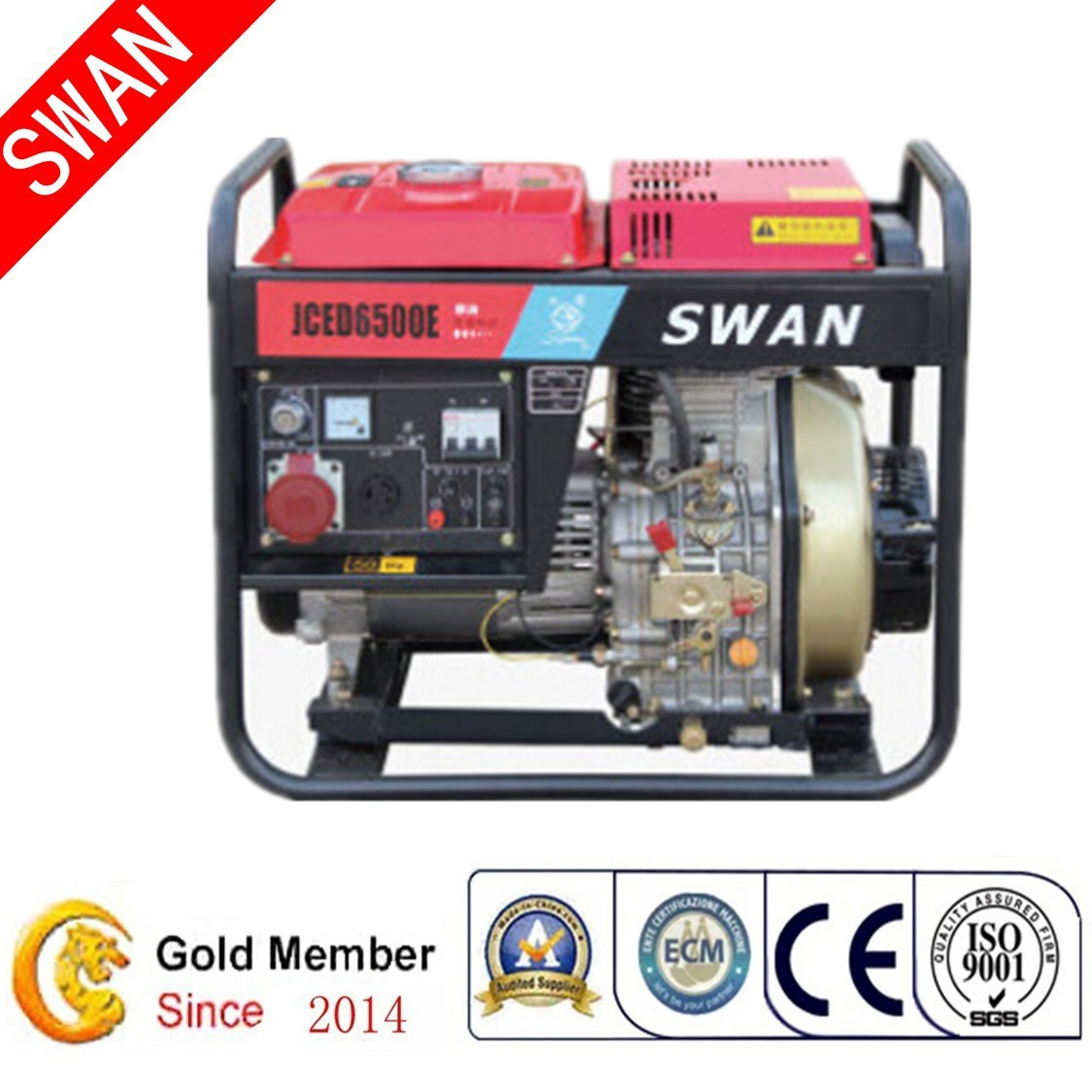 China Swan Brand 5kw Electric Start Power Open Portable Diesel ...