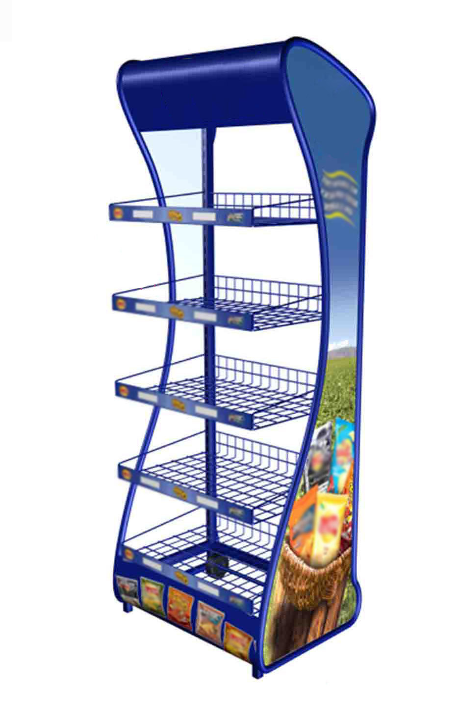 snack racks rack display