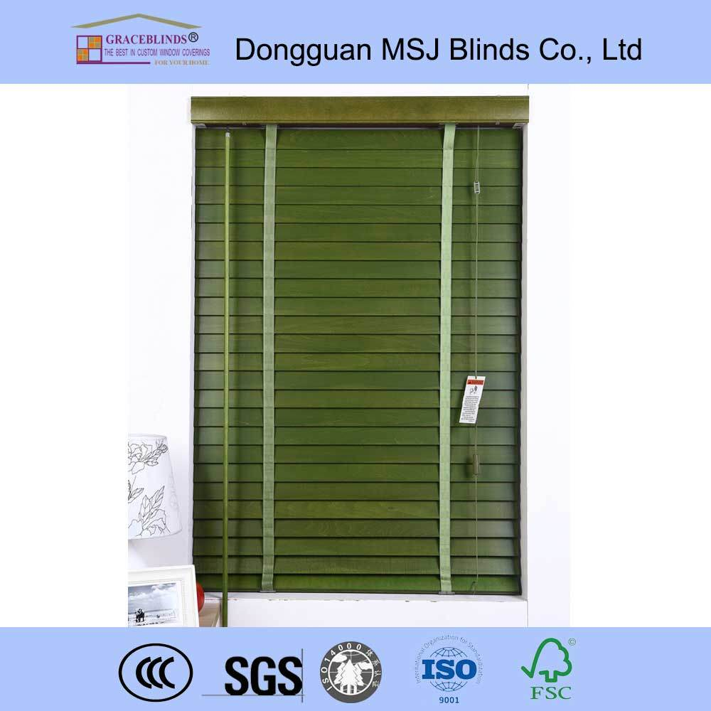 Wooden Venetian Blinds with Ladder String