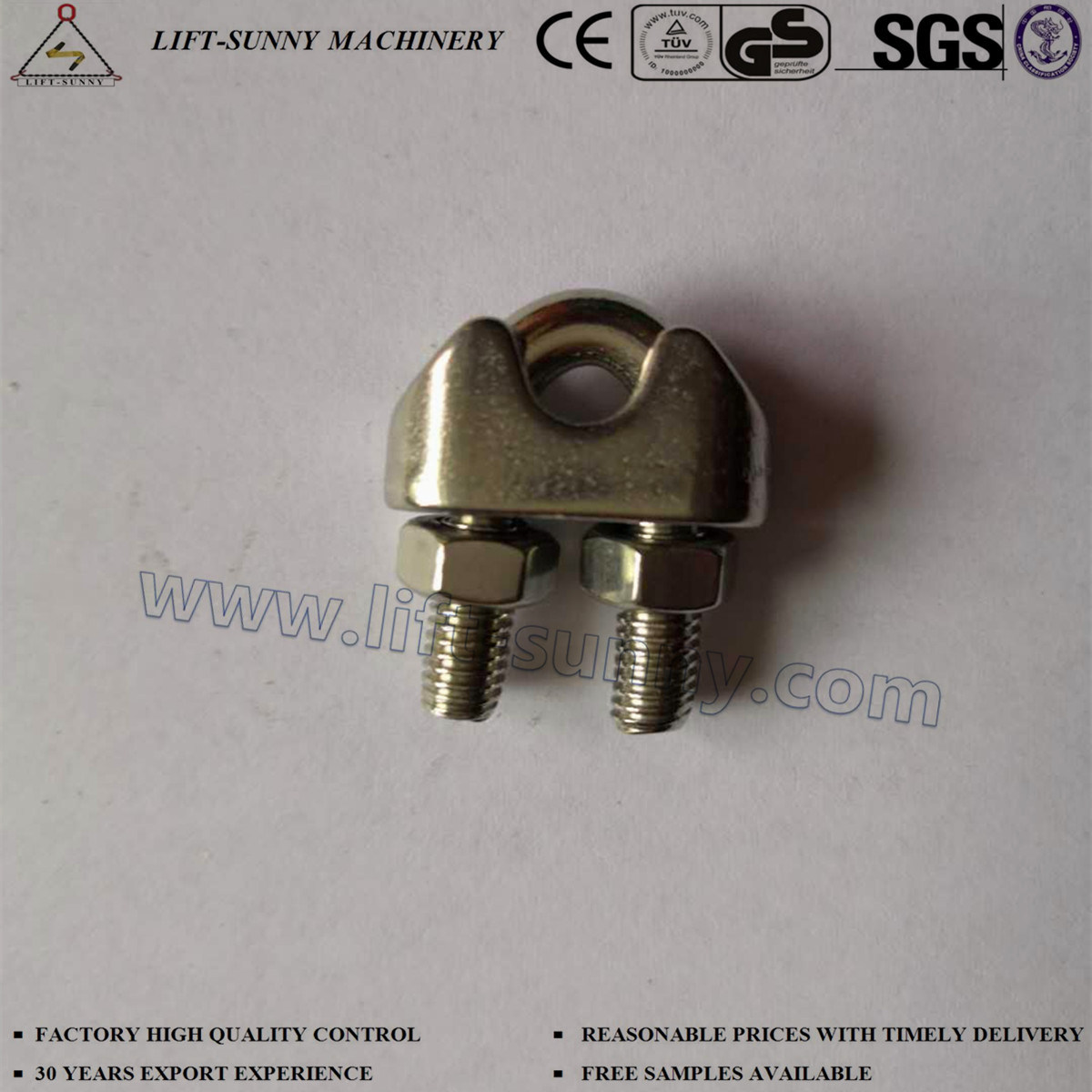 China 304 316 Stainless Steel DIN741 Wire Rope Clips - China Wire ...