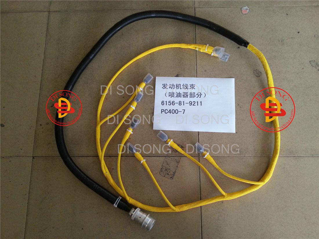 China Komatsu Excavator Spare Parts Engine For Wiring Harness 6156 81 9211 Auto Spart