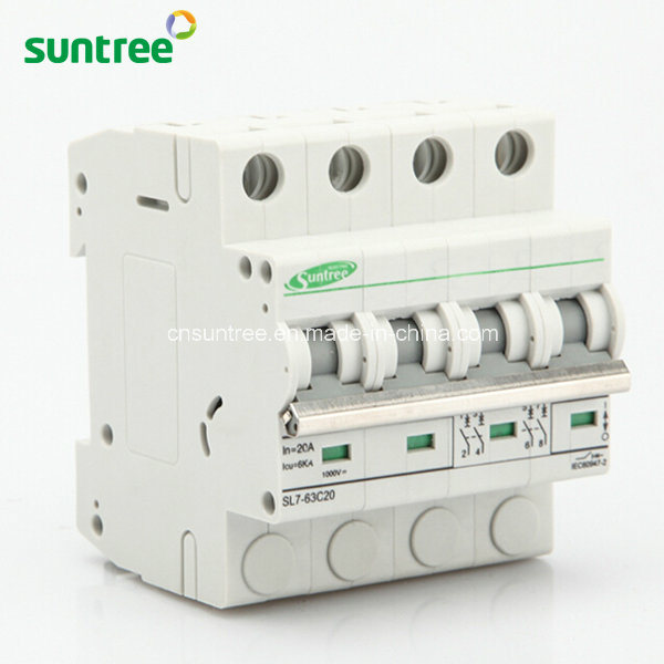4 Pole DC1000V Solar DC Mini Circuit Breaker