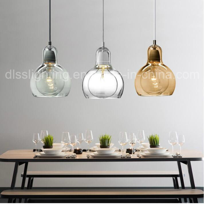 Hot Item Modern Simple Mini Hanging Lighting Gl Bulb Pendant Light For Kitchen Decoration