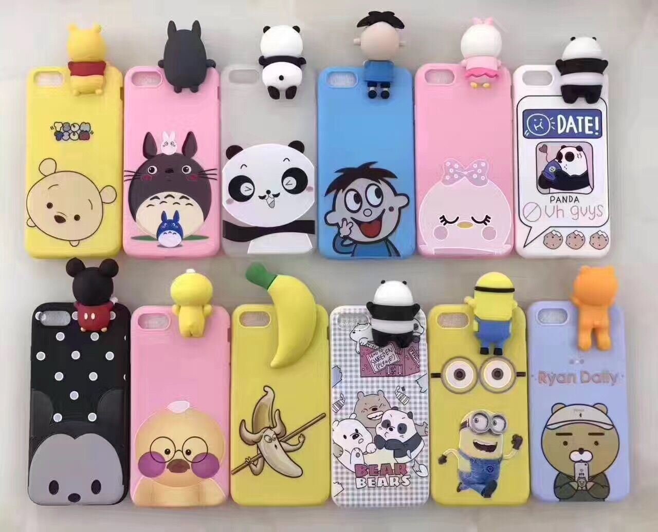 new arrival f48bf 88fbf [Hot Item] Cute Cartoon Painted Design Soft TPU Cell Phone Back Cover
